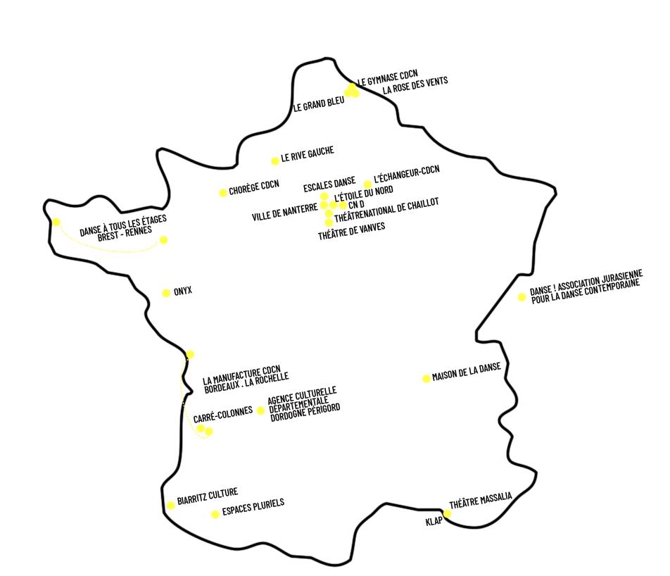 Carte nationale du réseau Loop